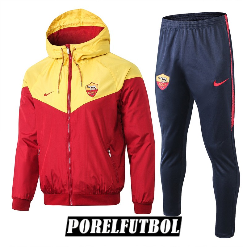 2018 19 rompevientos amarillo rojo as roma