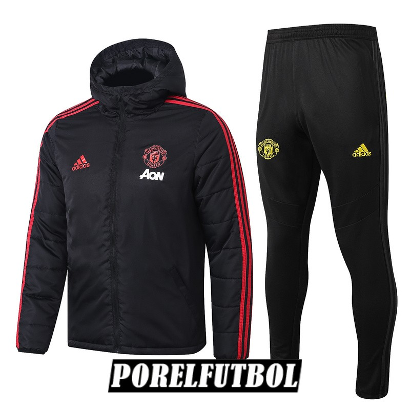 2019 20 rompevientos negro rojo manchester united