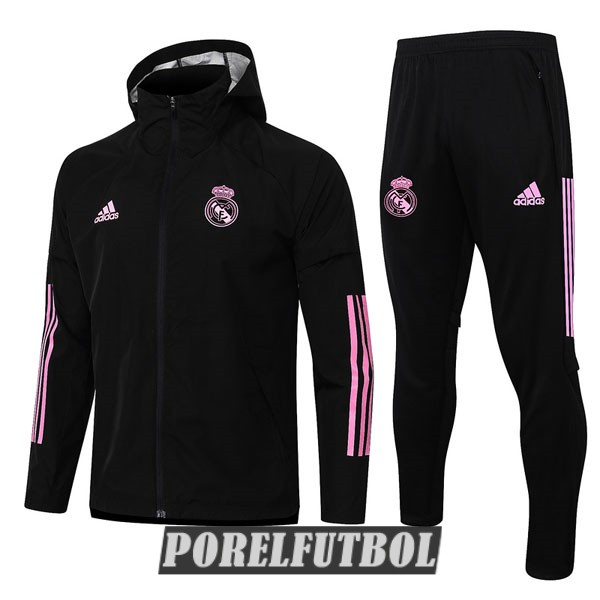 2020 21 rompevientos rosa negro real madrid