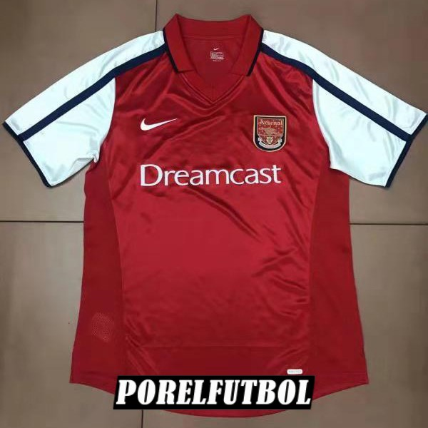 camiseta arsenal retro primera 2000