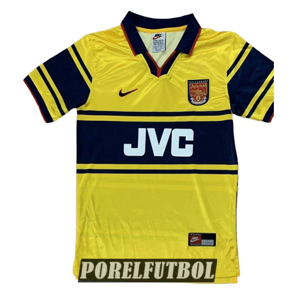 camiseta arsenal retro segunda 1997-1999