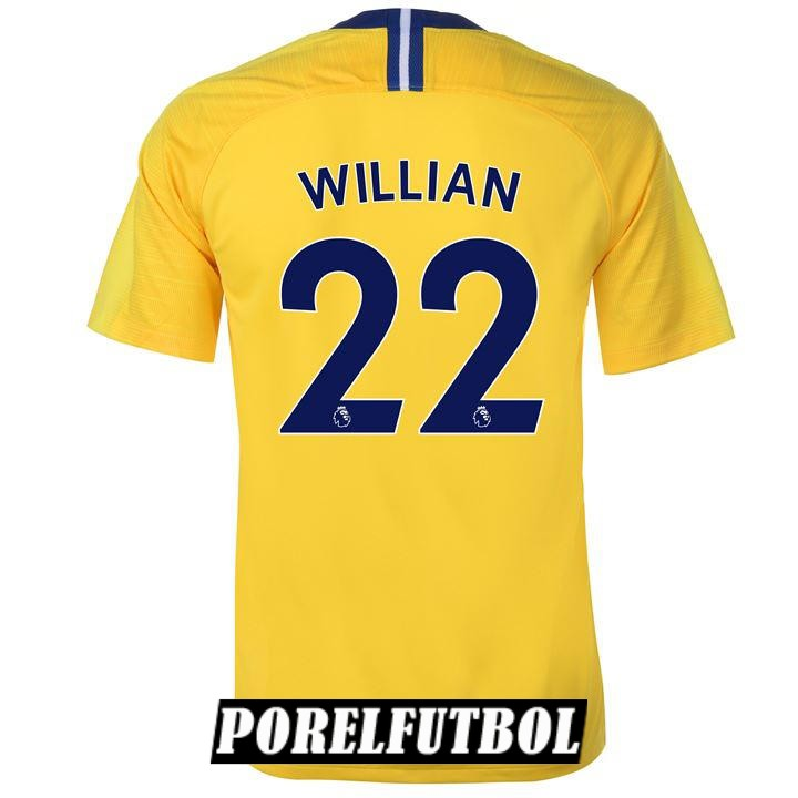 camiseta chelsea willian segunda 2018 19