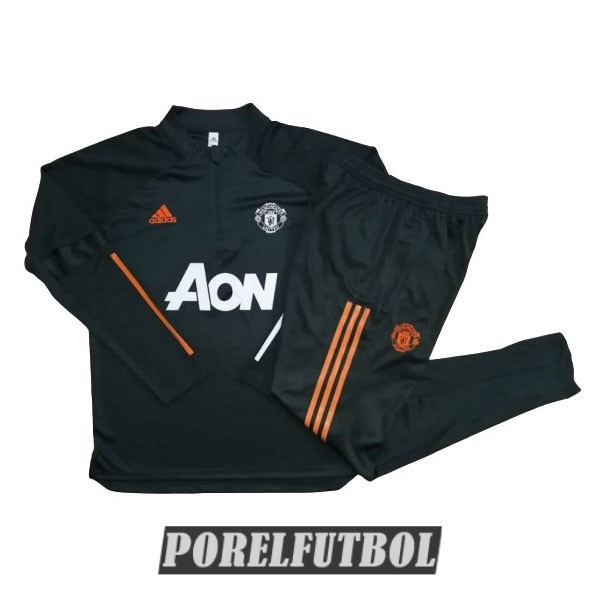 chandal manchester united 2020 21 cremallera verde oscuro