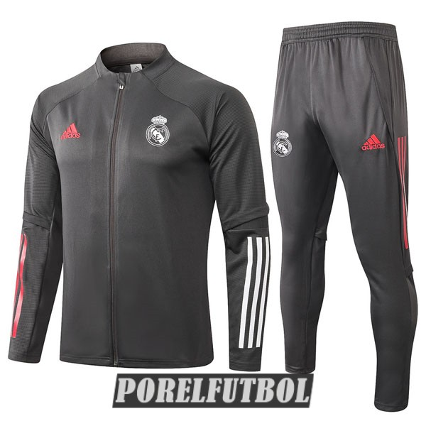 real madrid chaqueta gris oscuro 2020 21