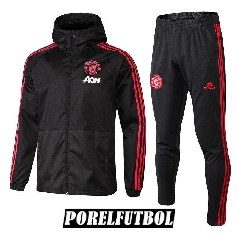 rompevientos manchester united 2018 19 negro
