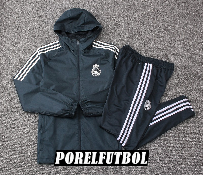 rompevientos real madrid 2018 19 gris oscuro
